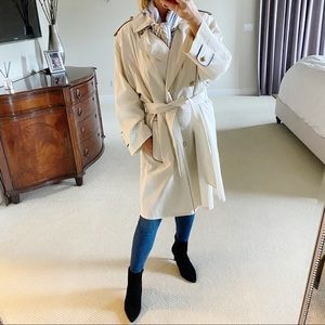 Vintage Burberry Trench Coat Ivory 12